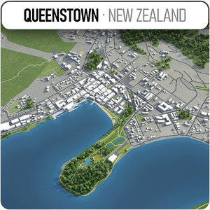 3D queenstown-cromwell-alexandra surrounding - model