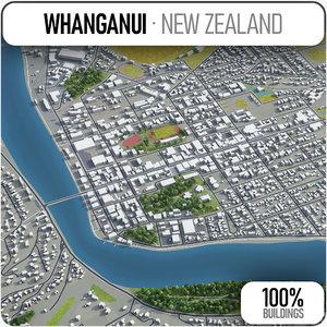 3D whanganui surrounding - model