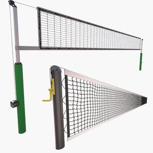tennis net volleyball model