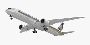 3D model boeing 787-10 singapore airlines