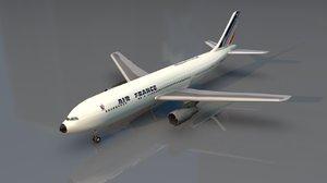 3D airbus passenger aircraft model