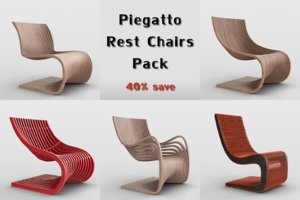 piegatto rest chairs 3D
