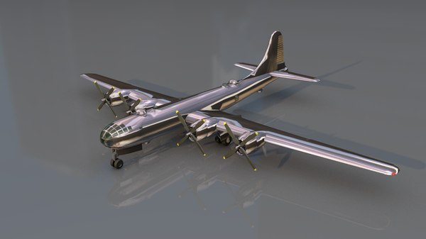 3D cargo airplane b29 model