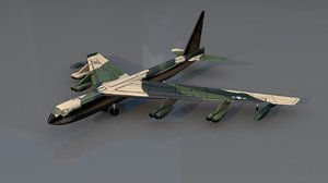 3D model b 52 stratofortress subsonic