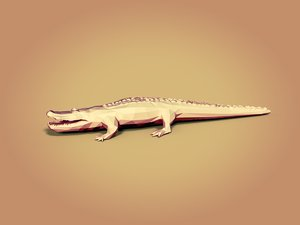 cartoon crocodile 3D model
