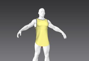 long vest muscular man model