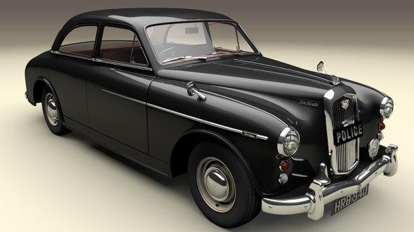 3D model 1957 car wolseley
