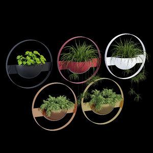 3D ivy unity wall planter model