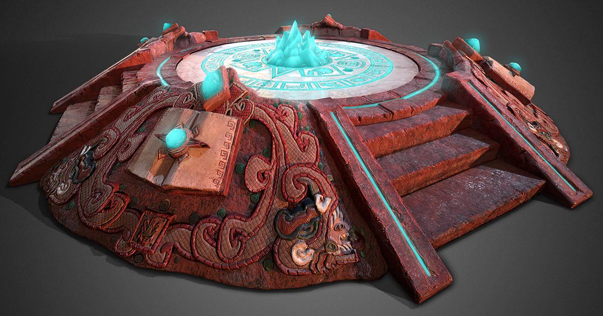 3D model ancient aztec ready