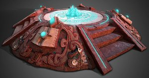 3D model ancient aztec ready