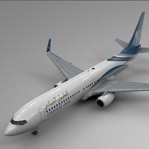 3D oman air boeing 737-800