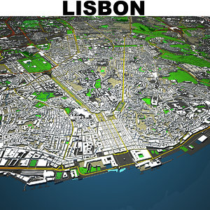 3D lisbon cityscape model