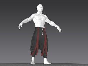rare pants marvelous 3D model