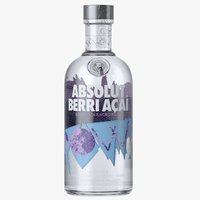 3D absolut berri acai vodka bottle model