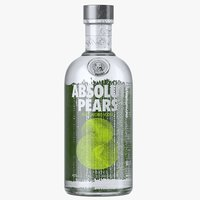 absolut pears vodka bottle model