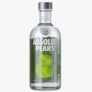 absolut pears vodka bottle model