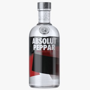 3D model absolut peppar vodka bottle