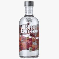 absolut ruby red vodka 3D model