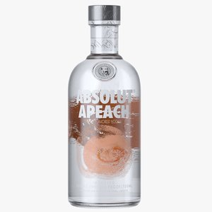 absolut apeach vodka bottle model