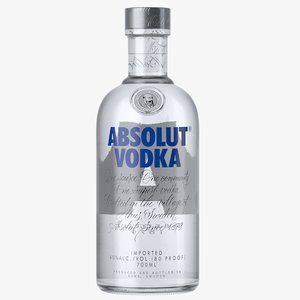 absolut classic vodka bottle 3D model