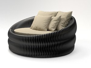 chaise bilbao 3D