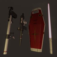 Gundam Rx78 Weapon Set
