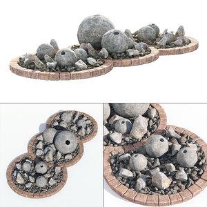 stone sphere 3D