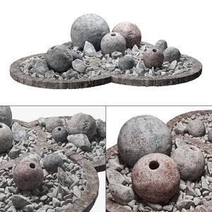 stone sphere 3D model