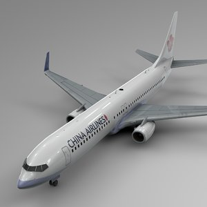 3D china airlines boeing 737-800 model