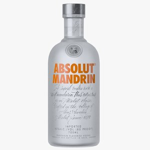 3D absolut mandrin vodka bottle