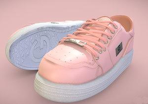 3D shoe los angeles pink