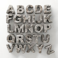Stone letters english n1