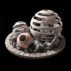 3D stone sphere