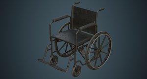 wheelchair 1b 3D model