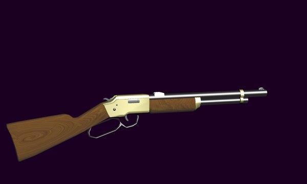 3D cowboy rifle model