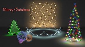 3D model garland christmas
