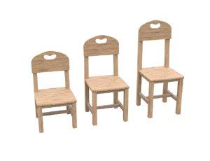 pack chair 3D model