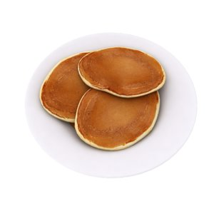 modeled american pancakes 3D model