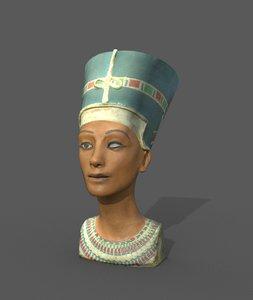 nefertiti bust statue 3D model