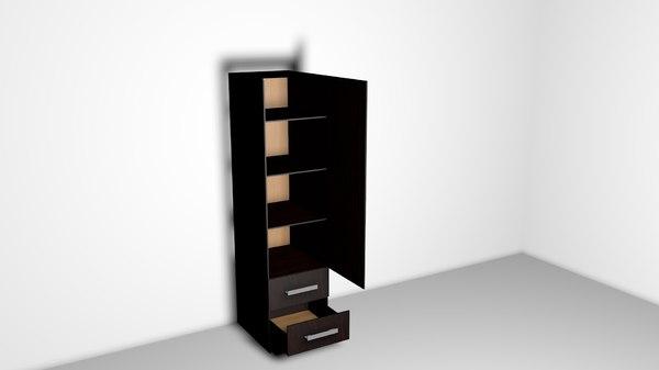 3D cupboard bar furnitur