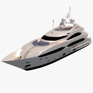 3D sunseeker yacht boat