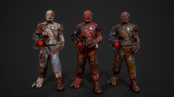 character cyber monsters 3D model