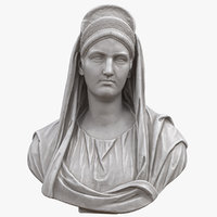 3D salonia matidia bust model