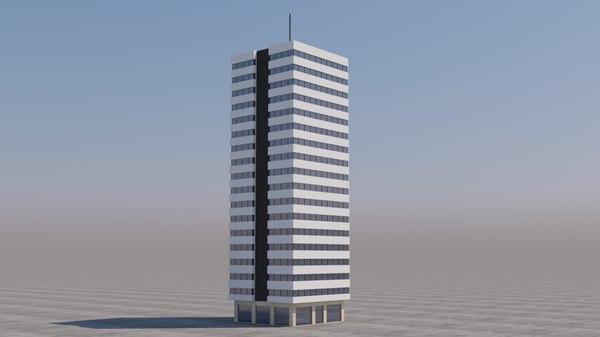 3D building skyscraper model