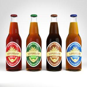 beer bottles 3D