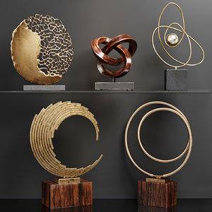 set abstract art 3D model