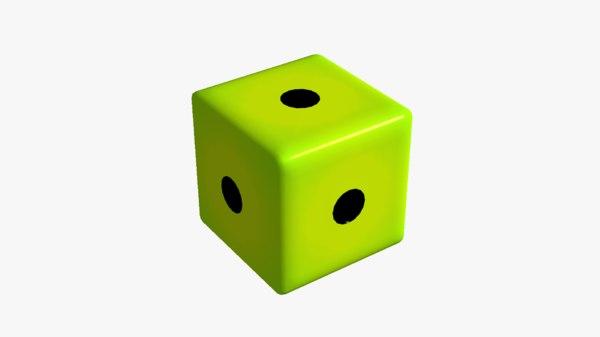 fake dice 1 3D