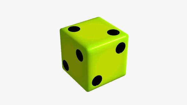 3D fake dice 2 model