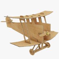 3D pbr cardboard airplane