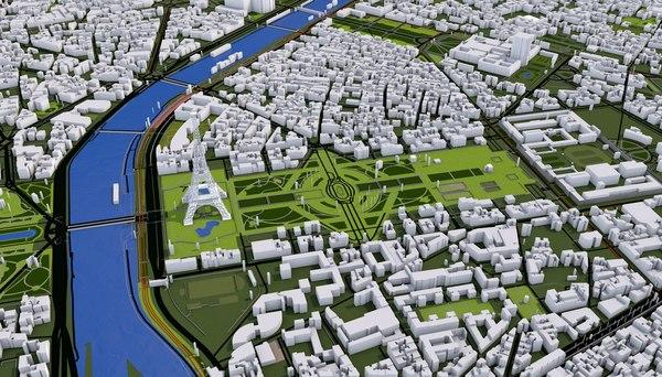 3D paris city model
